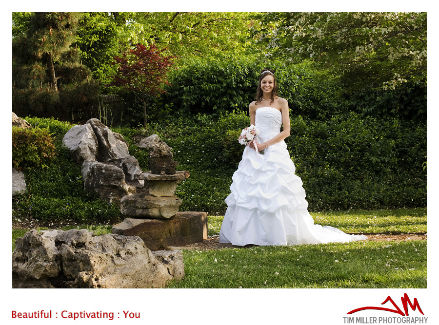 Bethany Bridals In The Japanese Stroll Gardens Springfield Missouri Red Vine Studios Red
